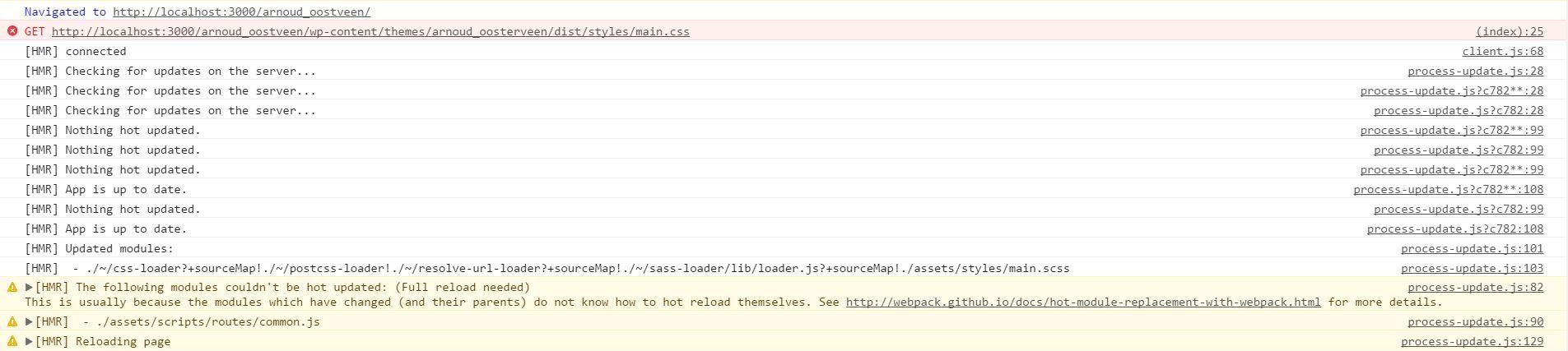 Loop reloading after change JS with yarn start   Sage 9
